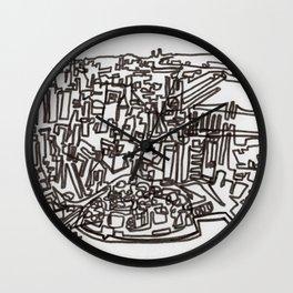 Lower Manhattan Line Wall Clock