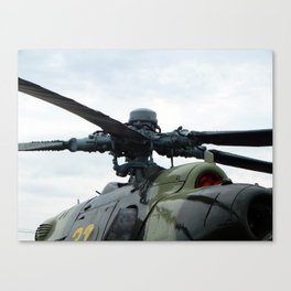 Helicopter engine propellers Canvas Print