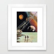 Set Sail for the Stars Framed Art Print