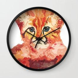 Leo the leopard cub Wall Clock