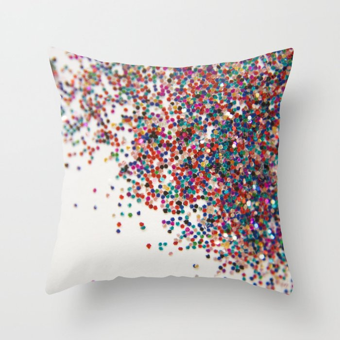 Fun II (NOT REAL GLITTER) Throw Pillow