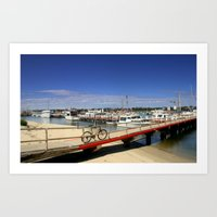 bicycle Art Prints featuring Bicycle  by Chris' Landscape Images & Designs