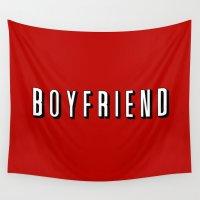 boyfriend Wall Tapestries featuring My Boyfriend by Travis Love