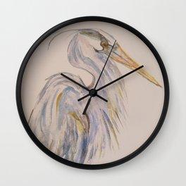 Peaceful Heron Wall Clock