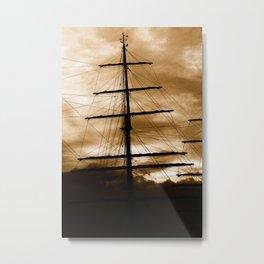 Tall ship mast Metal Print