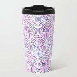 Floral Elegant Tribal Pattern (Pink Maroon Gray Green) Travel Mug