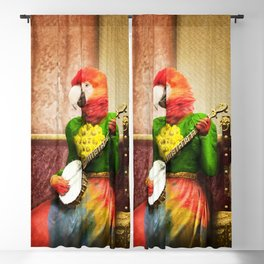 Banjo Birdy Plucks a Pretty Tune! Blackout Curtain