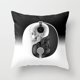 Headphone Harmony Throw Pillow