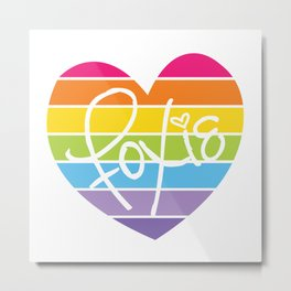 Foxie™ Rainbow Metal Print