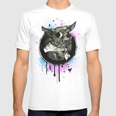 Ickle Dog MEDIUM White Mens Fitted Tee