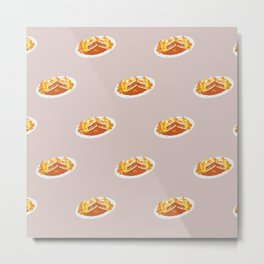 What I miss the most: Food Pattern Metal Print