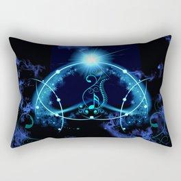 Key notes in blue Rectangular Pillow