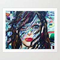 tiffany Art Prints featuring Tiffany by Katy Hirschfeld