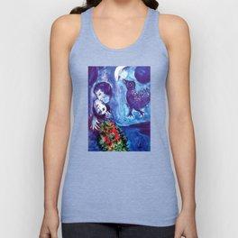 Marc Chagall, Le Paisage Bleu 1949 Artwork, Posters Tshirts Prints Bags Men Women Kids Unisex Tank Top