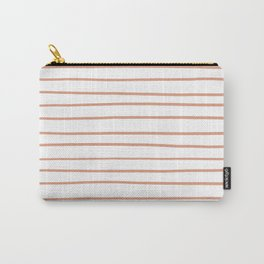 Pratt and Lambert Earthen Trail 4-26 Hand Drawn Horizontal Lines on Pure White Carry-All Pouch