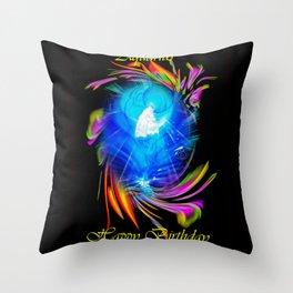 Zodiac sign Aquarius  Happy Birthday Throw Pillow