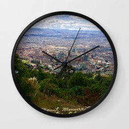 Mount Monserrate, with a 10,000 ft view of Bogota Colombia Wall Clock