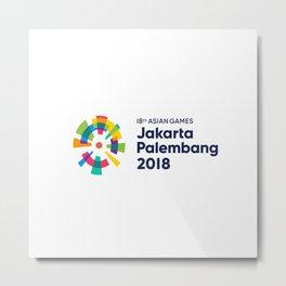 Asian Games 2018 Metal Print