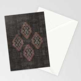 Kilim in Black and Pink Stationery Cards