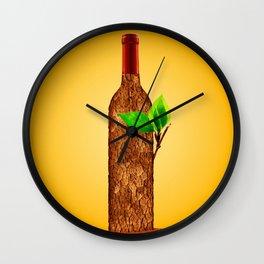 Eco-friendly Wine Illustration Wall Clock
