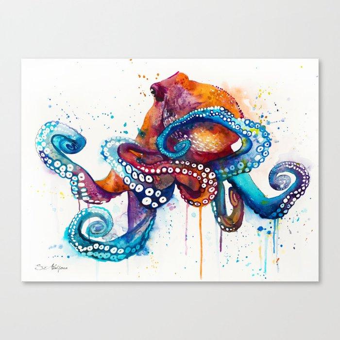 Octopus Leinwanddruck
