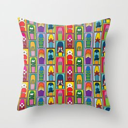 Vintage Shoe Collection Throw Pillow