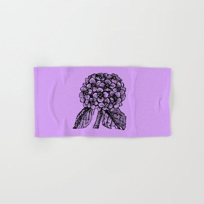 Lavender Hydrangea Hand & Bath Towel