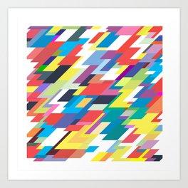 Layers Triangle Geometric Pattern Art Print