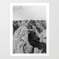 Face in the rocks Art Print