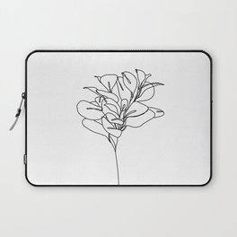 Plant one line drawing illustration - Marah Laptop Sleeve