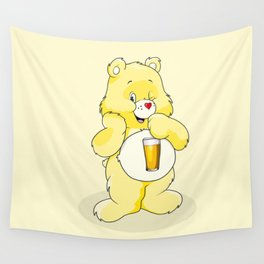 Beer Care Bear Wall Tapestry