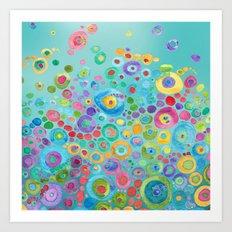 Under the Sea Circles Art Print