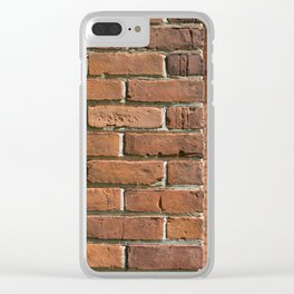 Exposed Brick Clear iPhone Case