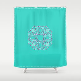 "CA Fantasy ""For Tiffany color"" series #2 Shower Curtain"