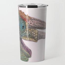 Happy Chameleon (watercolor) Travel Mug