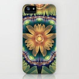 Peach Agate Iris Blooming as Crystalline Jellyfish iPhone Case