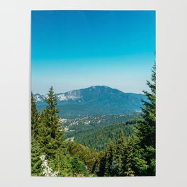 Mountains Landscape, Travel, Summer Landscape, Transylvania Mountains, Forests Of Romania Poster