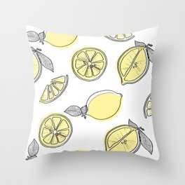lemon squeezy Throw Pillow