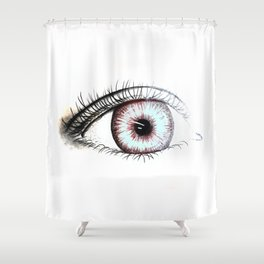 Looking In #2 - Original sketch to digital art Shower Curtain