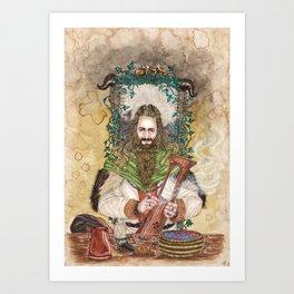 Bragi the bard of the Gods Art Print