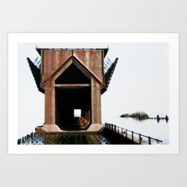 Surreal ore dock Art Print