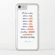Think About Such Things . . . Clear iPhone Case