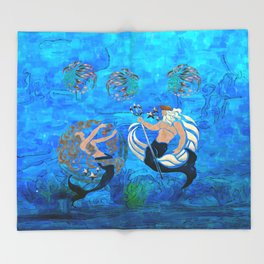 Myth of the Sea New Age Throw Blanket