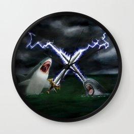 Shark vs. Narwhal  Wall Clock