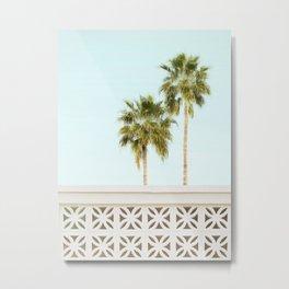 Palm Springs Breeze Block I Metal Print
