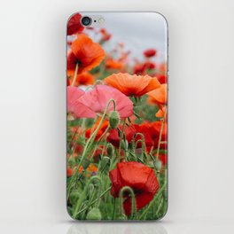 poppy field #society6 #decor #buyart iPhone Skin