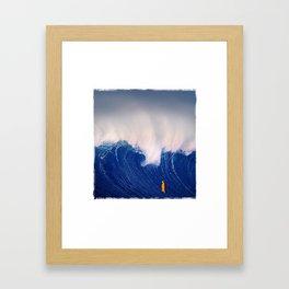 Blue Wave. Framed Art Print