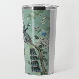 A Teal of Two Birds Chinoiserie Travel Mug