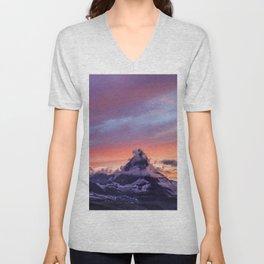 Himalayas Fishtail Mountain Sunset Unisex V-Neck