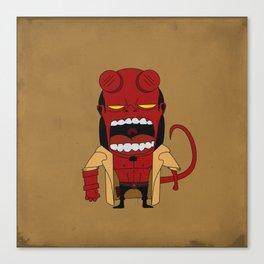 Screaming Helldude Canvas Print